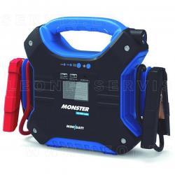 MiniBatt  MONTERS12/24V, 32.000 mAh 800A Mini batería multifunción y arrancador. Con pinzas inteligentes