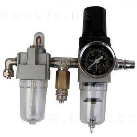 Filtro lubrificador y secador de aire con manómetro ajustable