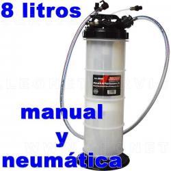 Bomba neumática y manual de 8 litros para extracción de aceite