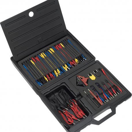 Juego de cables y accesorios para comprobar circuitos eléctricos - 90 pzs.