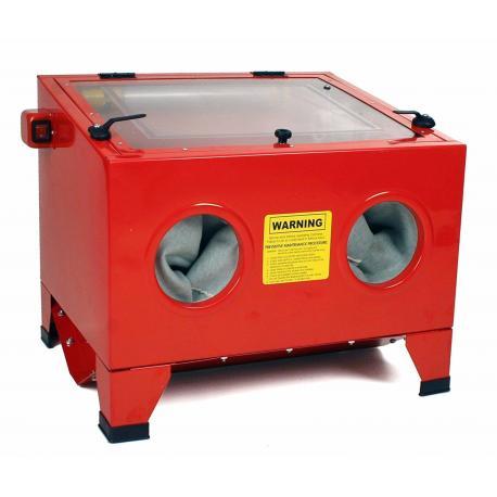 Cabina chorreadora de arena SIN patas. 90 litros volumen interior