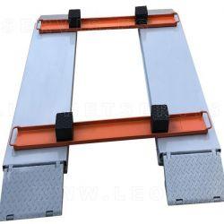 CrossUp 4x4® Par de travesaños para elevar 4x4 y furgoneta en elevador de tijera