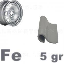 Contrapesa de clip de 5 gr. para llanta de chapa de acero, 100 uds.