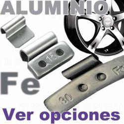 Contrapesa de clip ECONOMICA, fabricada en HIERRO, para llanta de aluminio