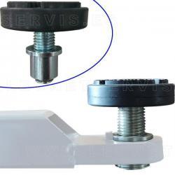 Conjunto de soporte metalico regulable + taco de goma TACOG09B