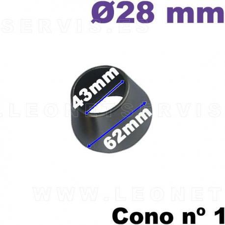 Cono nº 1 de 43-62 mm para equilibradoras de ruedas