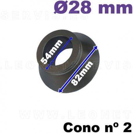 Cono nº 2 de 54-82 mm para equilibradoras de ruedas