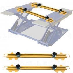 CrossUp 4x4® Par de travesaños PREMIUM para elevar 4x4 y furgoneta en elevador de tijera