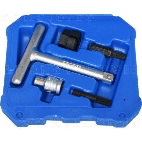 Juego para tapones de aceite de plástico, 5 PZS - VAG / BMW / FORD / PSA