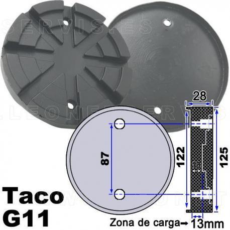 G11 Taco de goma 125mm. para elevador Nussbaum, Ami...
