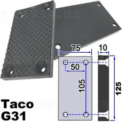 G31 taco de goma para elevadores compatible con Twin Busch, Ever Eternal EAE, Launch...