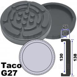 G27 taco de goma para elevadores compatible con Twin Busch, Ever Eternal EAE, Launch...