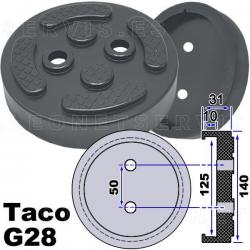 G28 taco de goma para elevadores compatible con Twin Busch, Ever Eternal EAE, Launch...