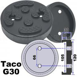 G30 taco de goma para elevadores compatible con Twin Busch, Ever Eternal EAE, Launch...