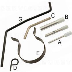 Conjunto de reglaje para motres gasolina del grupo PSAcon motor TU3 y ET3 de 1.4 8V/16V