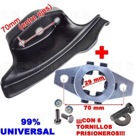 Uña de nylon + acople de acero UNIVERSAL