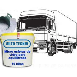 Micro esferas de vidrio para equilibrado de neumático camión, 10 kilos