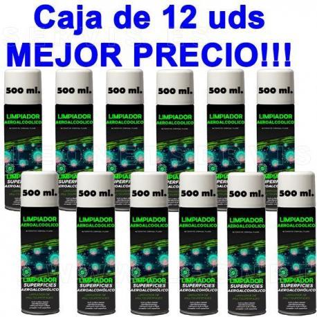 Higienizante aeroalcohólico profesional para superficies. Spray 500ml.