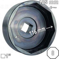 Llave octogonal 116mm tapacubos exterior. 116 mm