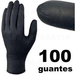 AUTO TECNIK © NEGRO , guante de nitrilo  100 guantes