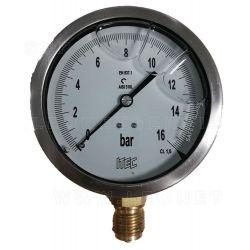 Manómetro de diámetro 100mm de 0 a 16 bares