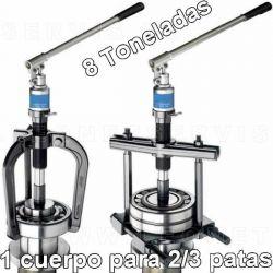 Maleta con extractores hidráulicos de 2-3 patas y guillotina de 8 tn