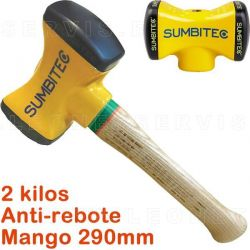 Martillo anti-rebote de 2Kg con mango estandar de 290 mm