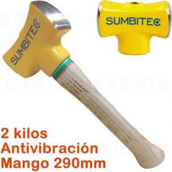 Martillo de acero de 2Kg con mango estandar de 290 mm