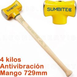 Martillo de acero de 4Kg con mango estandar de 729 mm