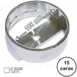 Llave de filtro de aceite MAN, 15 caras, 106 mm