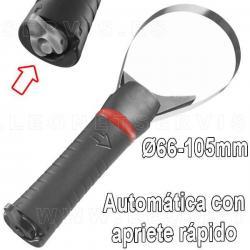 Llave de filtro automática de apriete rápido de 66 a 105 mm