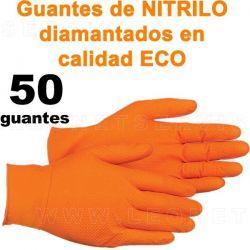 Guante diamantado NARANJA de nitrilo en calidad ECO