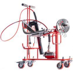 Extractor universal de ruedas simples y dobles de aluminio y acero.
