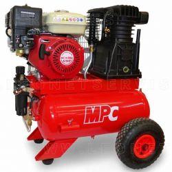 Moto compresor de aire a gasolina, 1 cilindro doble etapa, 6,5 hp, 17+17 litros calderón Mpc