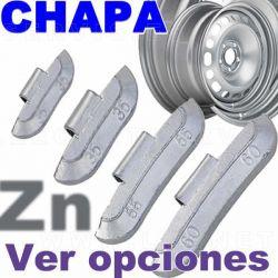 Contrapesa de clip fabricada en ZINC, para llanta de chapa de acero