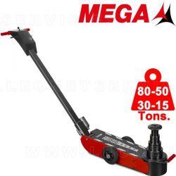 Gato oleo neumático MEGA de 80-50-30-15 tons.