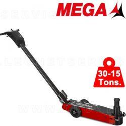 Gato oleo neumático MEGA de 30-15 tons. Chasis CORTO y BAJO