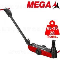 Gato oleo neumático MEGA de 65-35-20 tons. Chasis CORTO