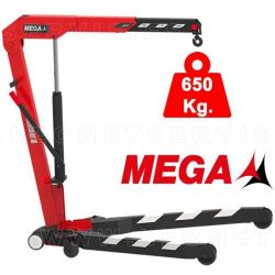 Grúa MEGA plegable y capacidad 650 k.