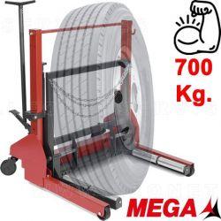 Gato saca ruedas hidráulico. Capacidad 700 kilos