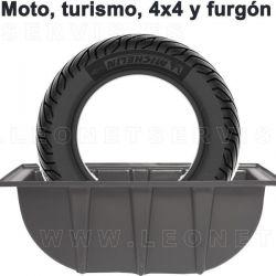 Cubeta bañera para ruedas para descubrir los pinchazos