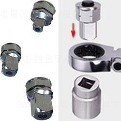 Juego de adaptadores de vaso para llaves planas de carraca