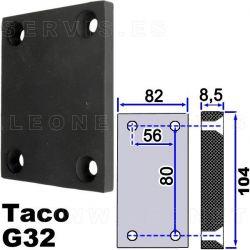 TACOG32 Taco de goma para elevador de taller Rotary, ALT...