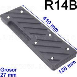 R14B taco de goma para desmontadoras Coats, Corghi, Sicam, Bosch, Sice, Mondolfo Ferro, HPA Faip, Focus, Giuliano, Cormach...