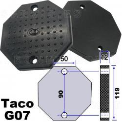 G07 Taco de goma octogonal para elevador de coches
