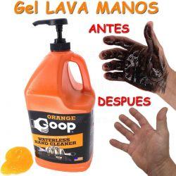 GOOP, Gel lava manos naranja con micro partículas. 4 Litros