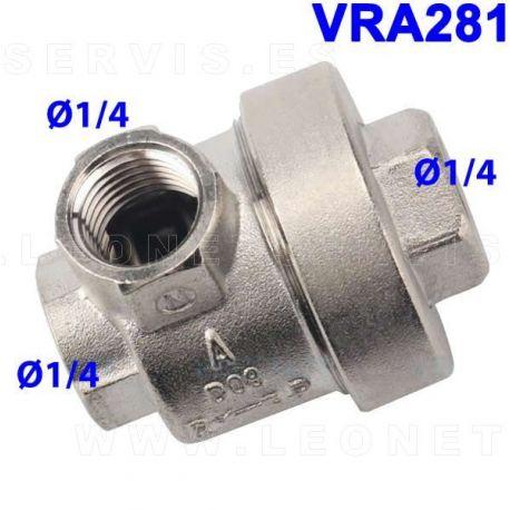 Válvula neumática de descarga para el pulmón destalonador de la desmontadora de neumáticos