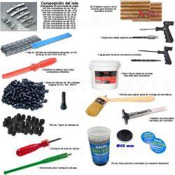 LOTE 051 de contrapesas, parches y herramientas para neumáticos