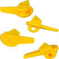 Protectores plásticos para el rodamiento de la uña de acero, 5 uds.
