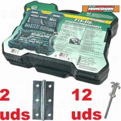 2 BISAGRAS para Maletín herramientas Mannesmann M98430 215 piezas